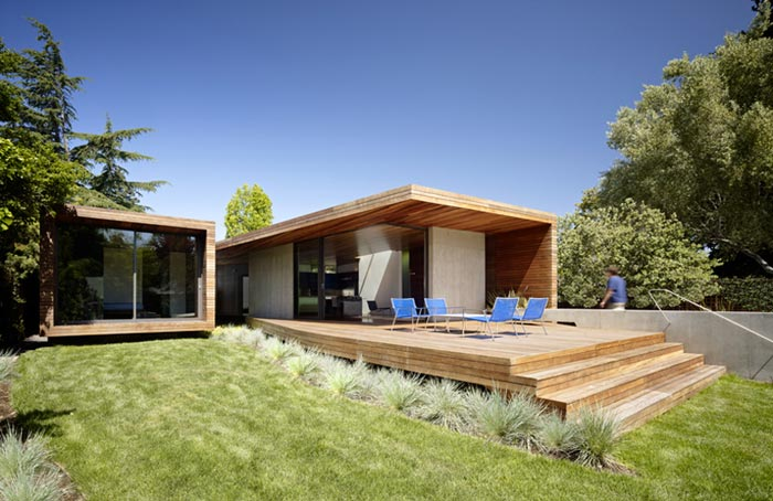 Maison design californienne exterieur arkko for Architecture exterieur maison