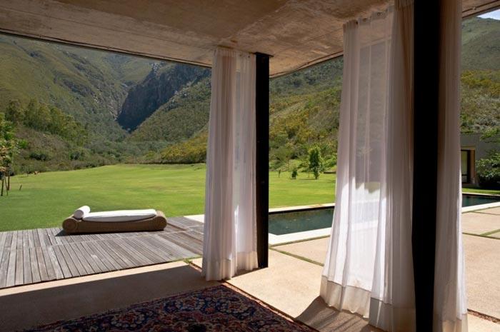 Maison design en Afrique du Sud-Terrasse