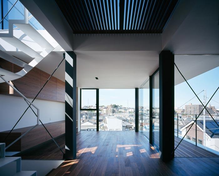 Maison design et asymetrique japonaise
