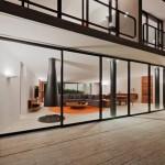 Maison design mexicaine-baie vitree