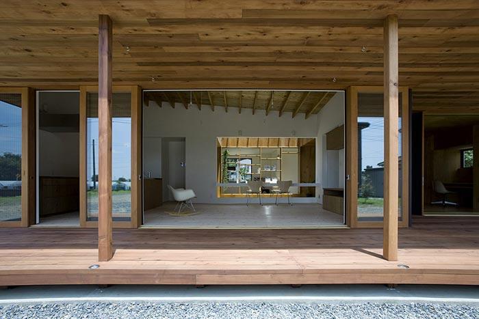 Maison design par Studio Synapse-Terrasse ouverte