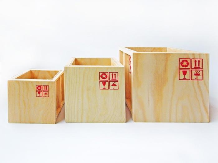 Mini conteneurs de cargo Inbox par Labyrinth Studio