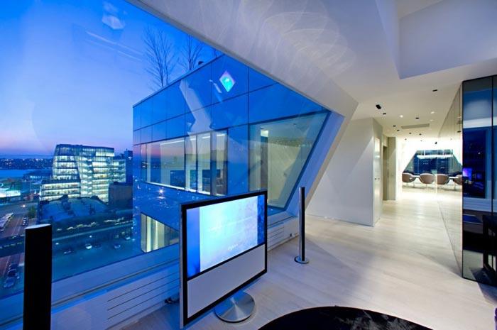 Penthouse design en plein New York