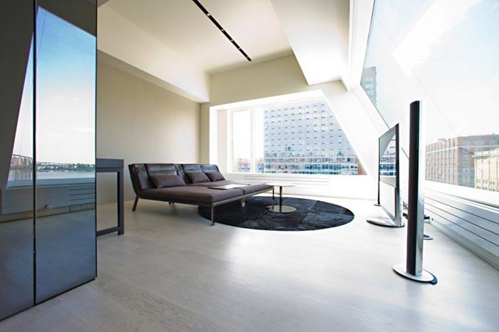 Penthouse design sur les toits de New York