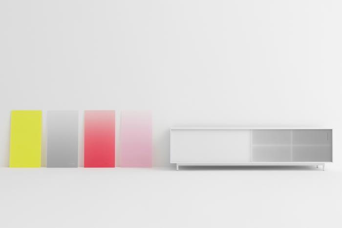 Portes colorees pour meuble Shift