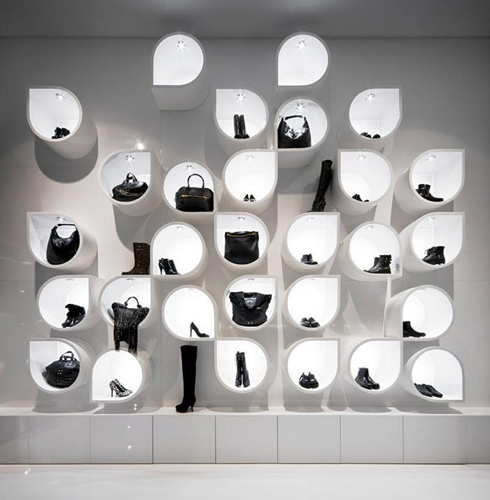 Rangement design pour une boutique