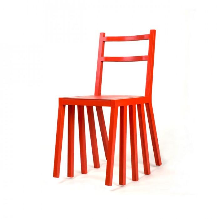 Rocking chair Kudirka rouge