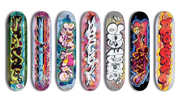 Skateboard Zooyork par Rime x TheSeventhLetter