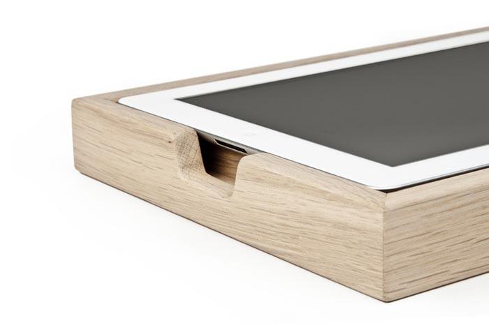 Support design en bois pour iPad