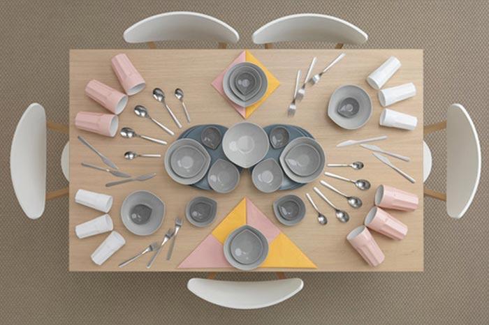 Table dressee IKEA mise en scene par Carl Kleiner