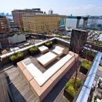 Terrasse sur les toits de New York