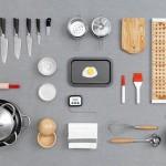 Ustensiles de cuisines IKEA mis en scene par Carl Kleiner
