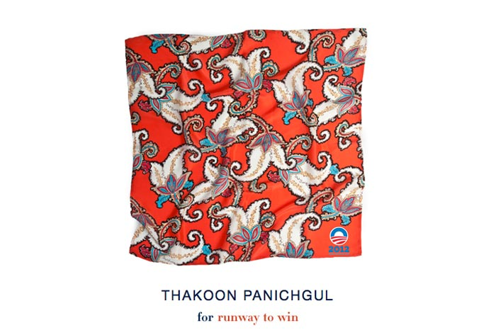 Vote for Obama-Foulard Thakoon