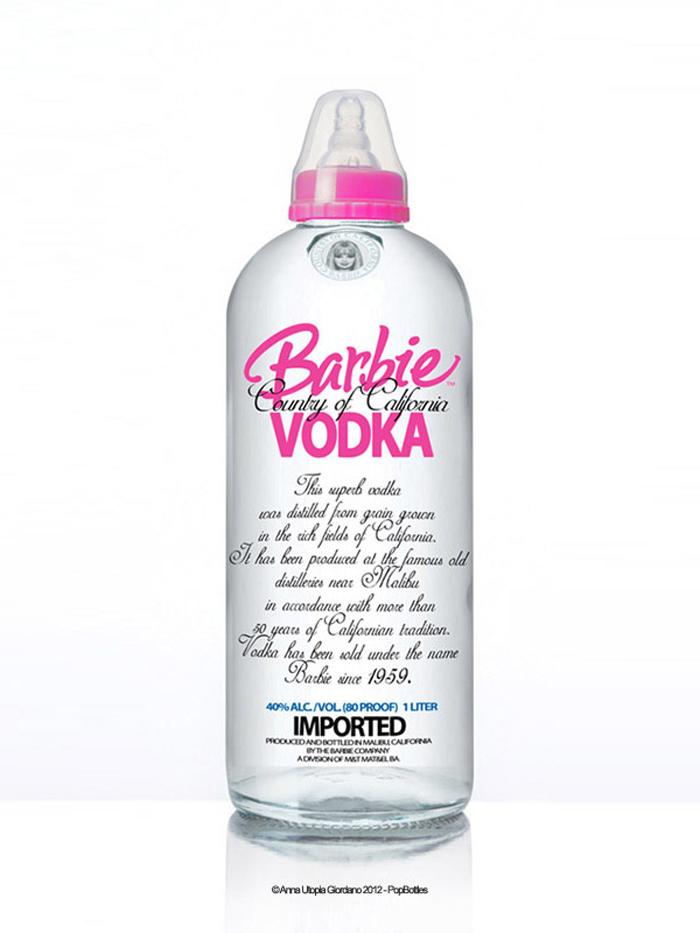 Biberon en forme de bouteille de vodka