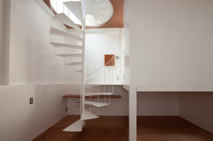 Escalier dans petite maison design