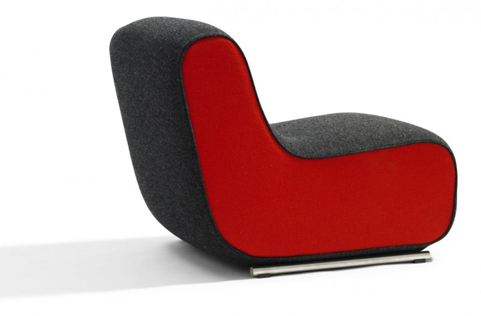 Fauteuil Ally rouge
