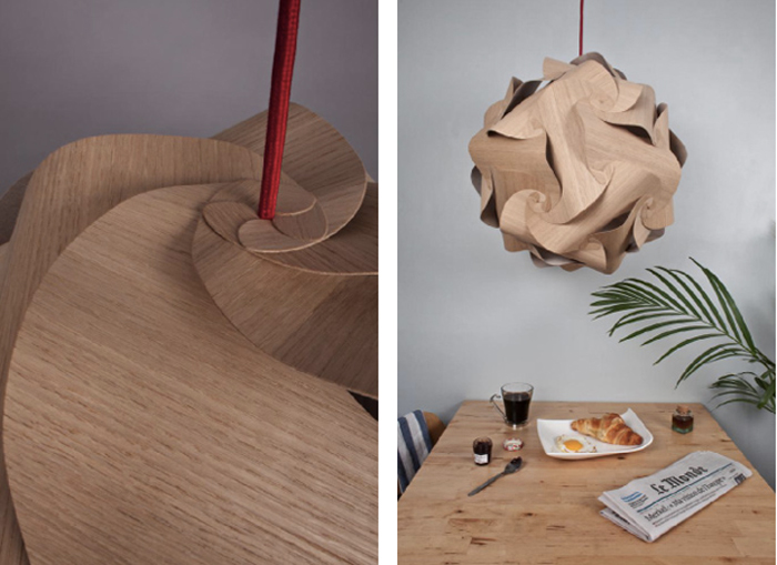 Lampe design Naos