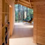 Maison design en bois-Baie vitree