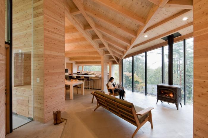 Maison design japonaise en bois for Architecture en bois