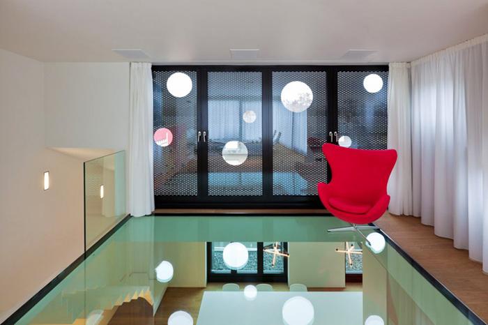 Plancher en verre Appartement design Luxembourg