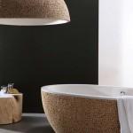 Salle de bain bois Bleu Nature