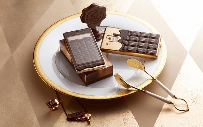 Smartphone en forme de chocolat