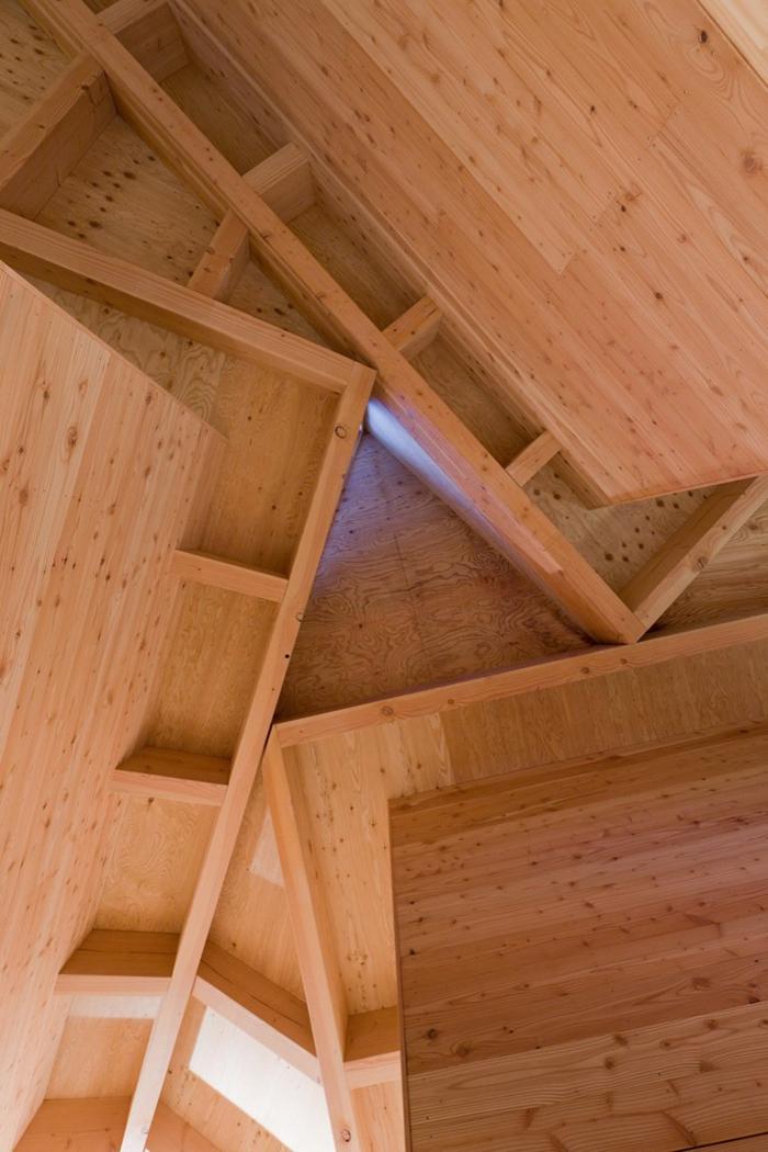 Toiture maison design en bois