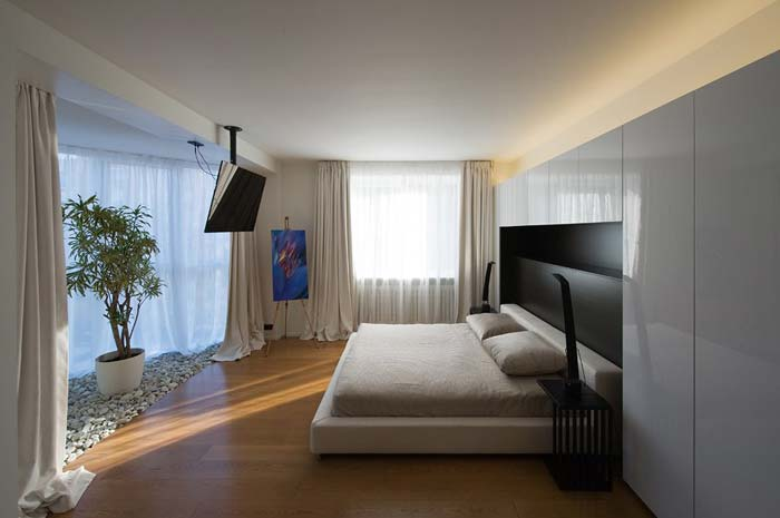 Appartement design a Moscou – Chambre