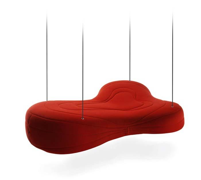 Canape design suspendu
