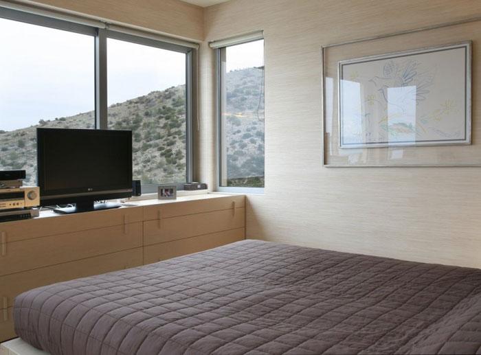Maison design a Athenes – Chambre