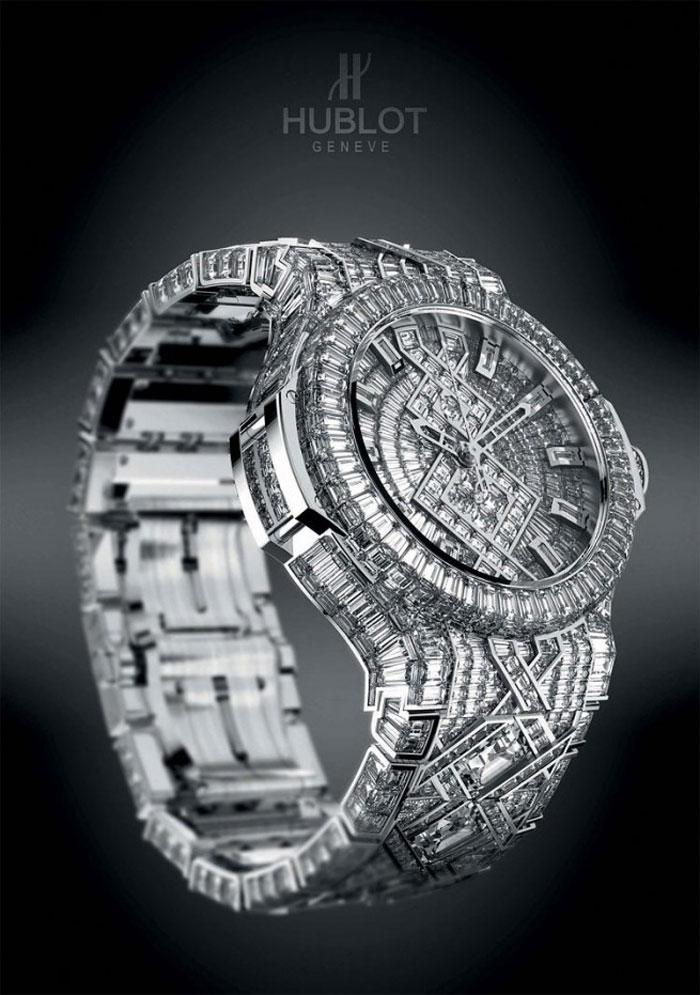 Montre de luxe Hublot en diamants