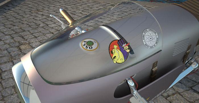 Moto design Monocasco par Art Tic