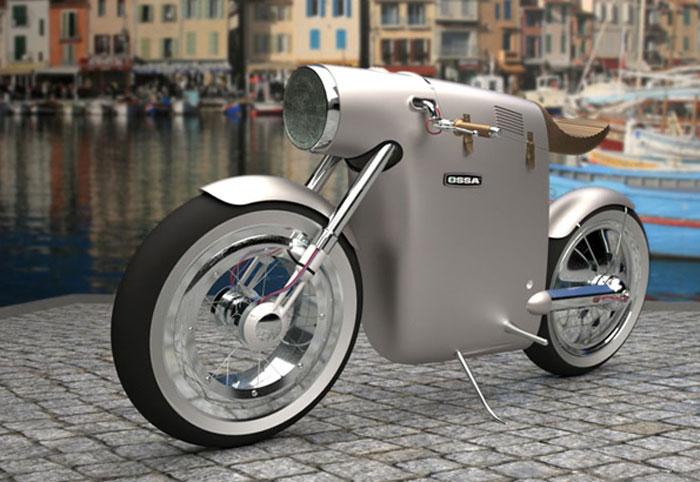 Moto electrique design Monocasco