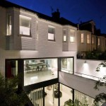 Residence design a Londres - Cour interieure