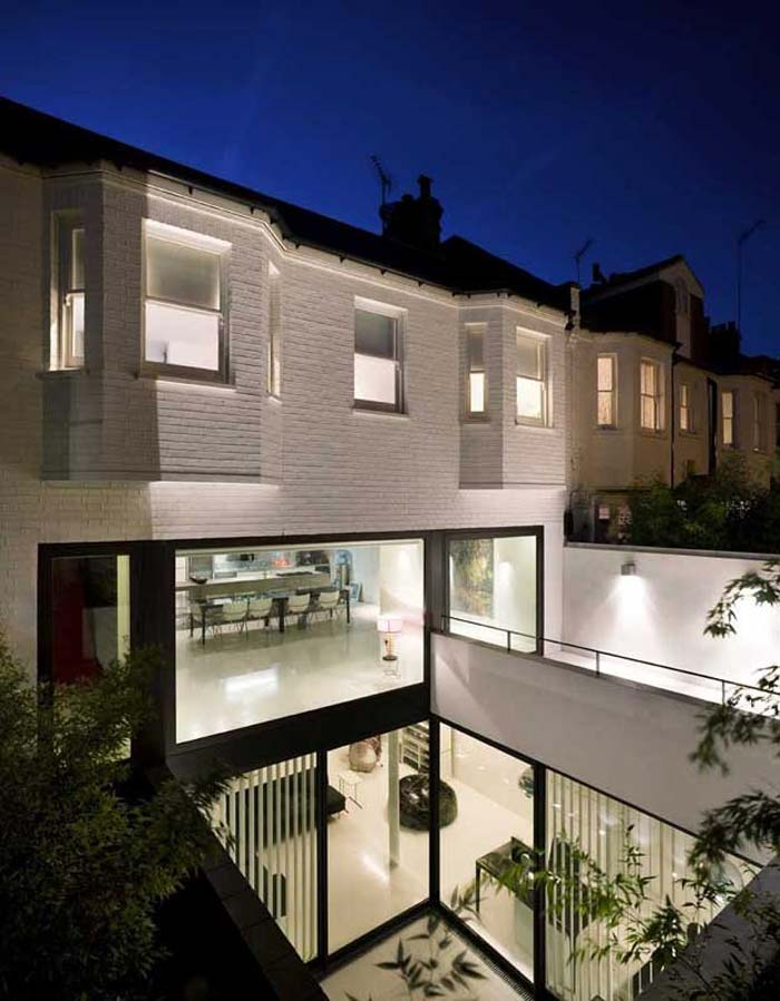 Residence design a Londres – Cour interieure