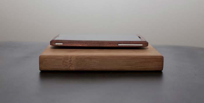 Telephone portable design en bois