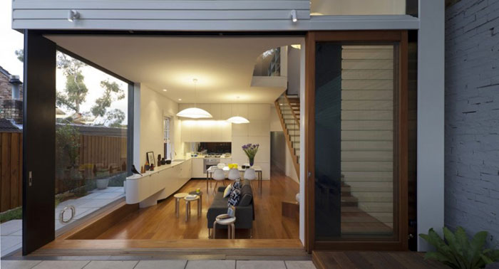 Maison design a Sydney - Salle a manger