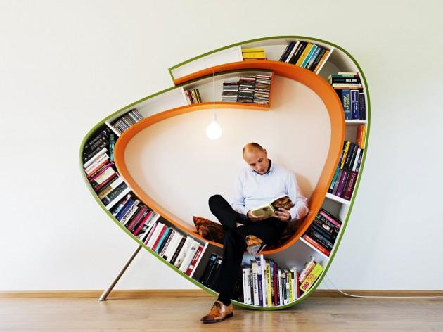 Bibliothèque design par Atelier 010