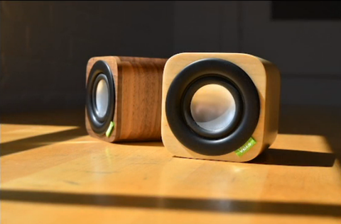 Mini enceinte Bluetooth en bois Vers 1Q
