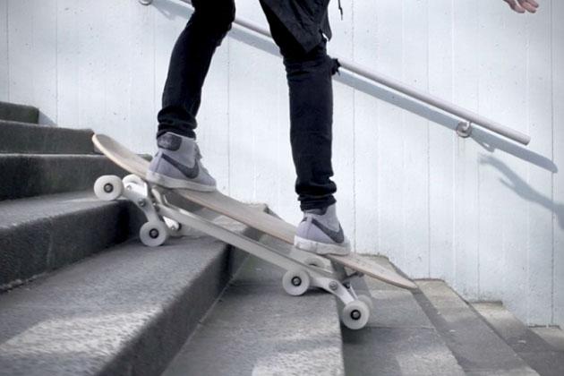 Skateboard à 8 roues