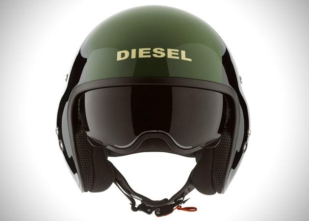 Casque de moto Diesel version pilote d'hélicoptère