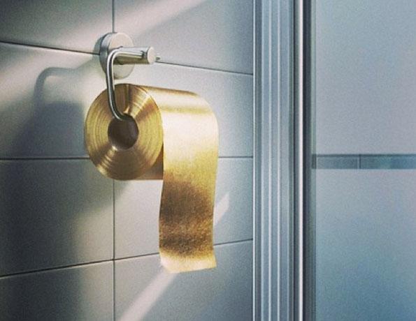 Du papier de toilette en or à 1 million de dollars