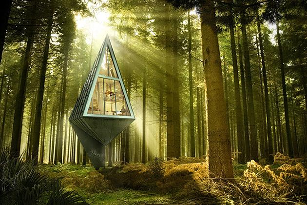 Cabanes design dans les arbres qui respectent l'environnement