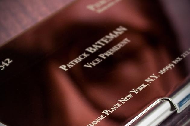 Le porte cartes de visite de Patrick Bateman