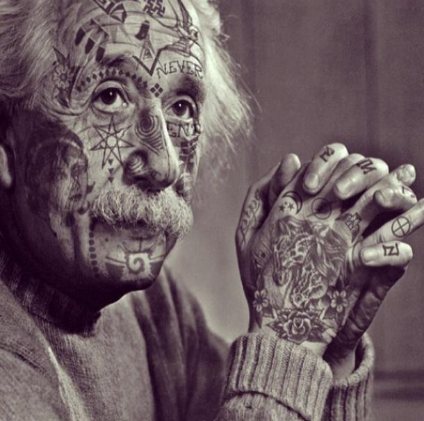 Albert-Einstein-tatouages