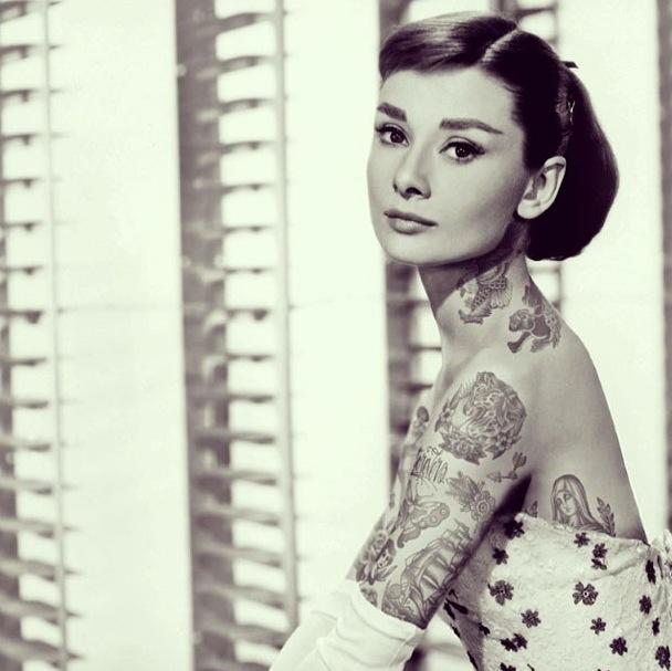 Audrey-Hepburn-tatouages