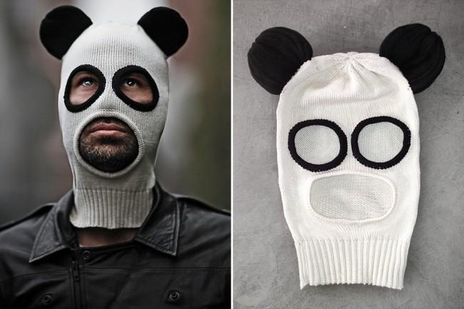 Cagoule de Panda pour braquer la bijouterie du coin
