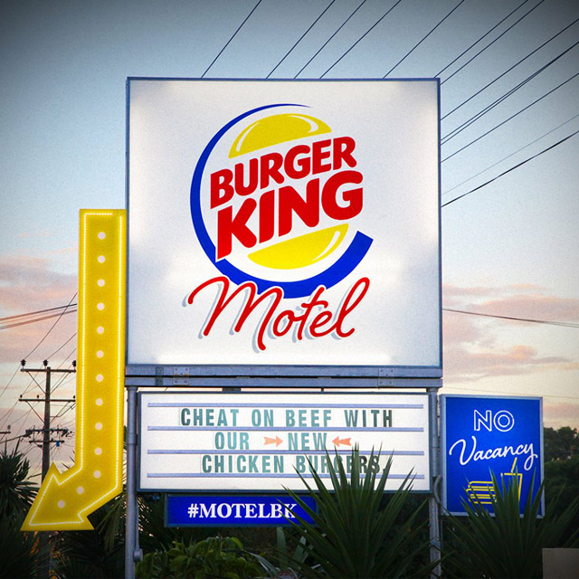 Le premier Motel Burger King