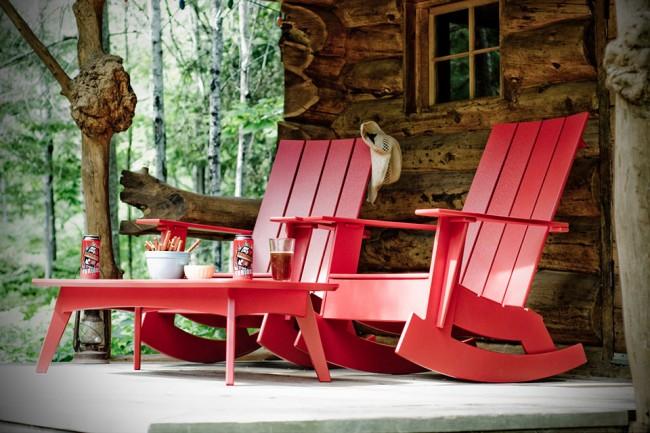 Rocking chair design respectueux de l'environnement