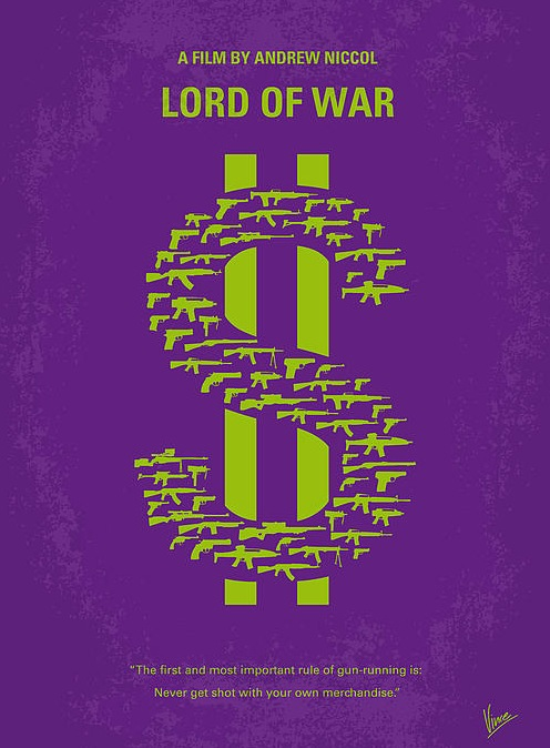 Affiche film minimaliste lord of war arkko for Affiche minimaliste